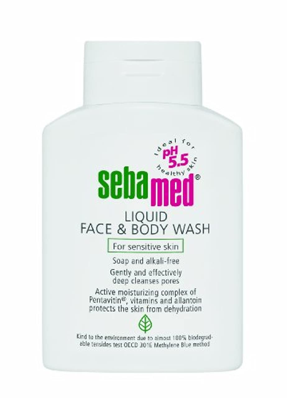 はず存在する粘着性Sebamed Liquid Face & Body Wash 200ml (Pack of 2)