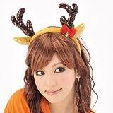 【クリスマス小物】キラキラトナカイカチューシャ(1個)  / お楽しみグッズ(紙風船)付きセット