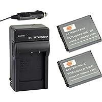 DSTE® アクセサリーキットFujifilm NP-50 D-LI68 KLIC-7004 互換 カメラ バッテリー 2個+充電器キット対応機種 FinePix F60FD F100FD F70EXR F75EXR F80EXR F85EXR Pentax Q7 Q10 Q-S1