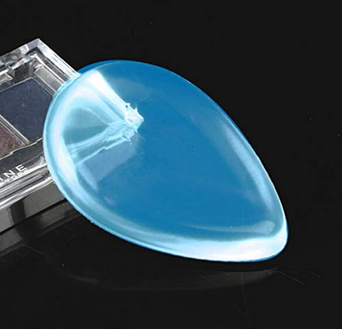 潤滑する非アクティブ敬礼DOMO シリコンパフ 透明 清潔しやすい メイクスポンジ ゲルパフ ゼリーパフ化粧品 ファンデーション メークアップツール