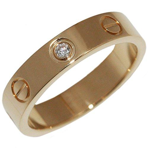 [カルティエ]Cartier K18YG ダイヤ1P ミニラブリング 指輪(リング)(B40561) #49(9号) [中古]