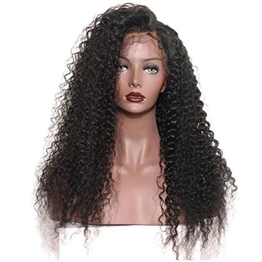 喜劇カウボーイ同意する女性のレースフロントかつら人間の髪と赤ちゃんの毛合成ブラジルボディ波バージン毛150%密度黒24インチ