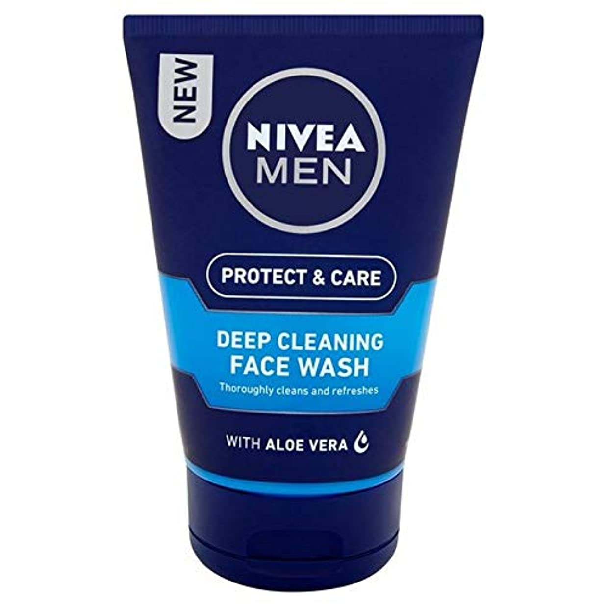 全部アルプス犯人[Nivea ] ニベアの男性深いクリーニング洗顔の100ミリリットル - Nivea Men Deep Cleaning Face Wash 100ml [並行輸入品]
