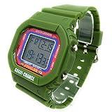 北電子 JUGGLER ジャグラー バックライト デジタルウォッチ 時計 腕時計 ウォッチ (グリーン)