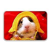 玄関マット ラグ 滑り止め 玄関 カーペット マット 屋内 キッチン バス ドア マットHat A Hamster おしゃれ かわいい 洗える 床防護 インテリア 人気 天然素材