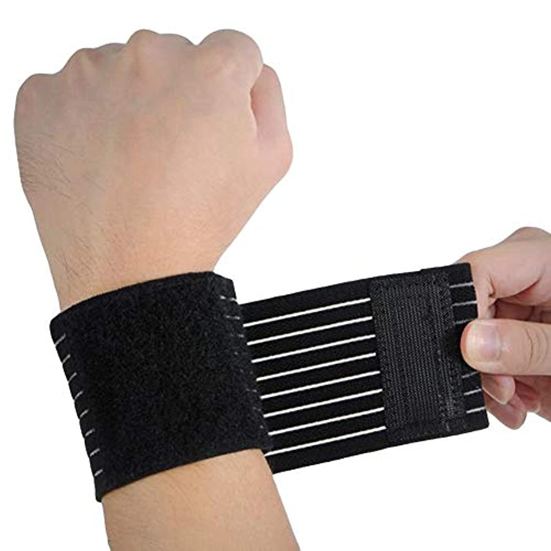 2個入り 包帯式 手首サポーターフトに圧迫される 吸水速乾 親指