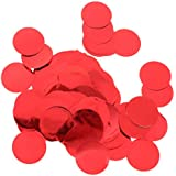 Perfeclan 約30g 紙吹雪 丸い キラキラ DIY イベント 結婚式 コンフェッティ 多色選べ - 赤