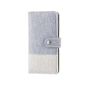 ELECOM iPhone 6s/6 対応 ケース 手帳型カバー スウェット グレー×ホワイト  PM-A15PLFXSW1