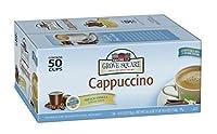 Grove Square Cappuccino, French Vanilla, 50 Single Serve Cups by Grove Square Cappuccino