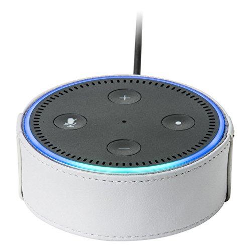 サンワダイレクト Amazon Echo Dot ケース 本革 2ndモデル/2017年発売モデル用 ホワイト 200-CASE001W