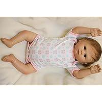 oumeinuo Look Real Newborn人形Rebornベビー人形Siliconeビニール20 in Lovely Lifelikeかわいい少年少女おもちゃ+服+磁気おしゃぶり