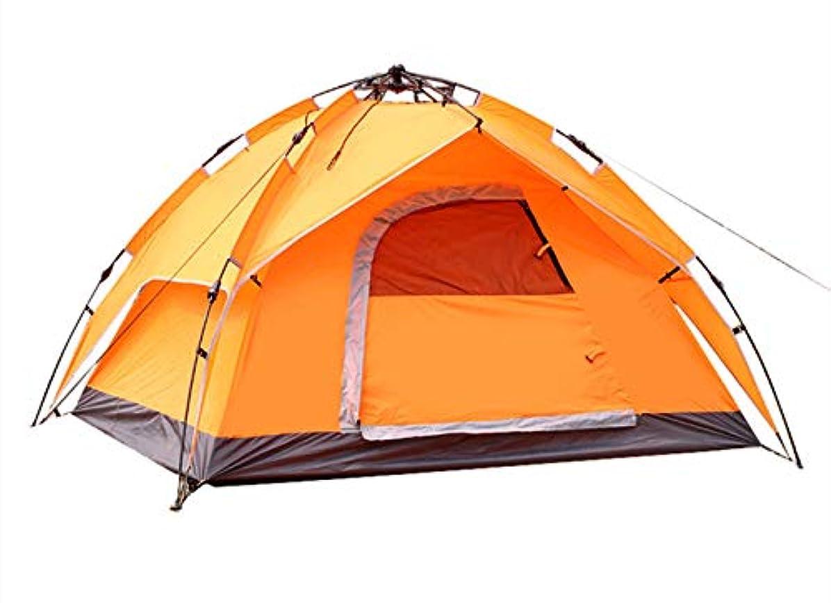 危険にさらされている再開通路キャンプ自動テント屋外3?4人ダブルテントダブルマルチパーソンキャンプビーチテント