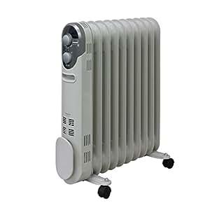 山善(YAMAZEN) オイルヒーター(1200/700/500W 3段階切替式)(温度調節機能付)(24時間入切タイマー付) ホワイト DO-TL124(W)