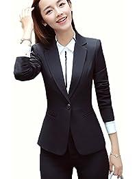 SHUNYI レディース スカートスーツ 2点セット パンツスーツ OL オフィス 就活 ビジネス 通勤 セットスーツ フォーマル 大きいサイズあり 事務服