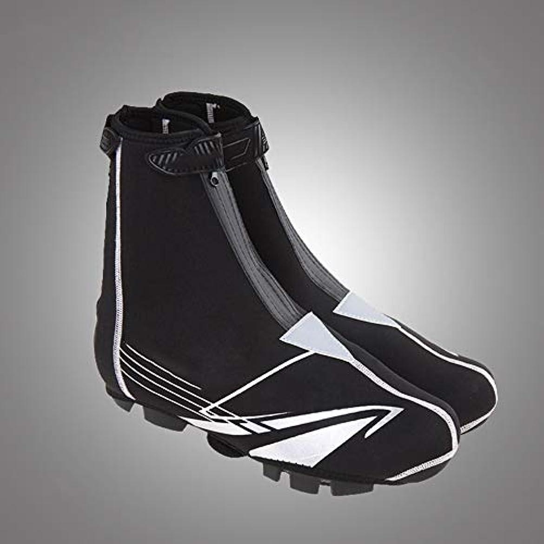 ワイプサイクロプス確認してくださいRuzzy メンズシューズカバーレインブーツ防水/厚手/ボタンベルト/ジッパー/伸縮性のある包帯再利用可能な抵抗を減らす簡単なジッパー脱落防止アンチスラッジ防水靴カバー 購入へようこそ (Size : EU 36-44)