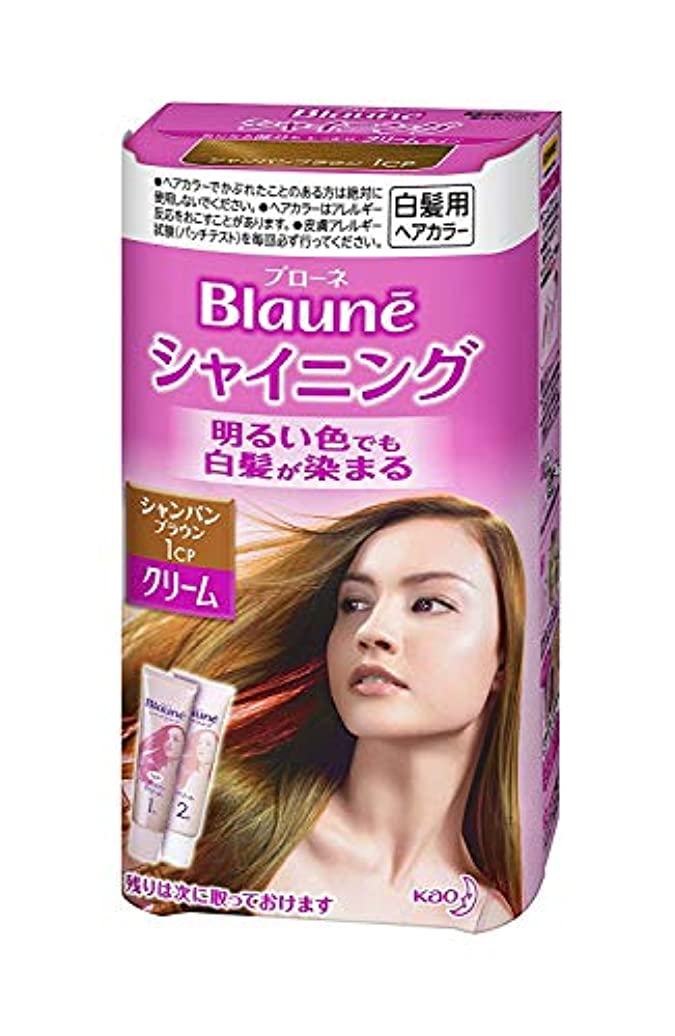 対称合理化誇張【花王】ブローネ シャイニングヘアカラークリーム1CP シャンパンブラウン ×5個セット