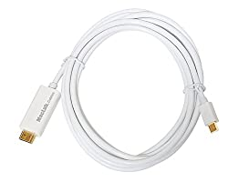 MacLab. Thunderbolt ( Mini DisplayPort ) - HDMI 変換 ケーブル 3m 1080p - ビデオ、オーディオ、マルチディスプレイ、ミラーリングモード対応【相性保証付き】