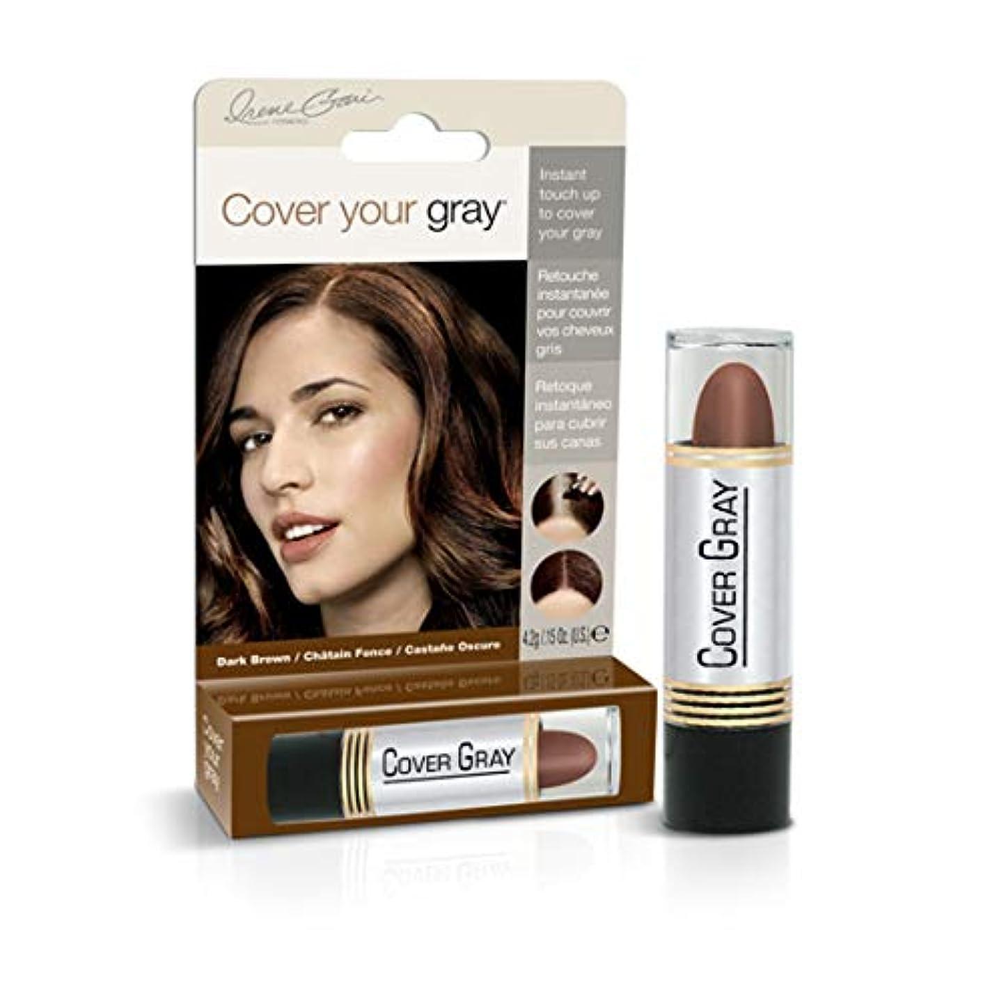 しみ変装した行政Cover Your Gray Stick Dark Brown 44 ml. (Pack of 6) (並行輸入品)