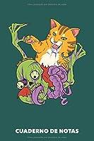 Cuaderno de Notas: Charlas contra zombis A5 punteadas - 120 páginas para dueños de gatos (verdemar)