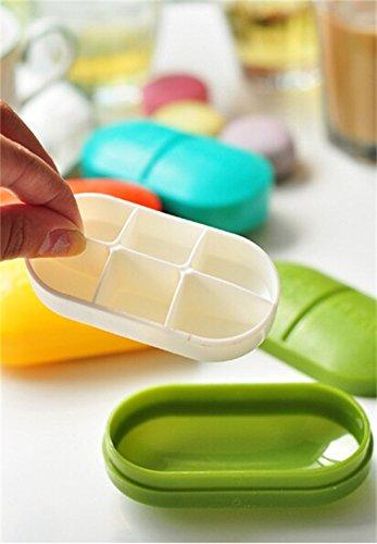(ゼイゲウィン) Zigwin 6格 薬ケース キャンディ色 スクラブ 携帯 一週間 薬入れ チューインガム 身につけ 習慣薬箱