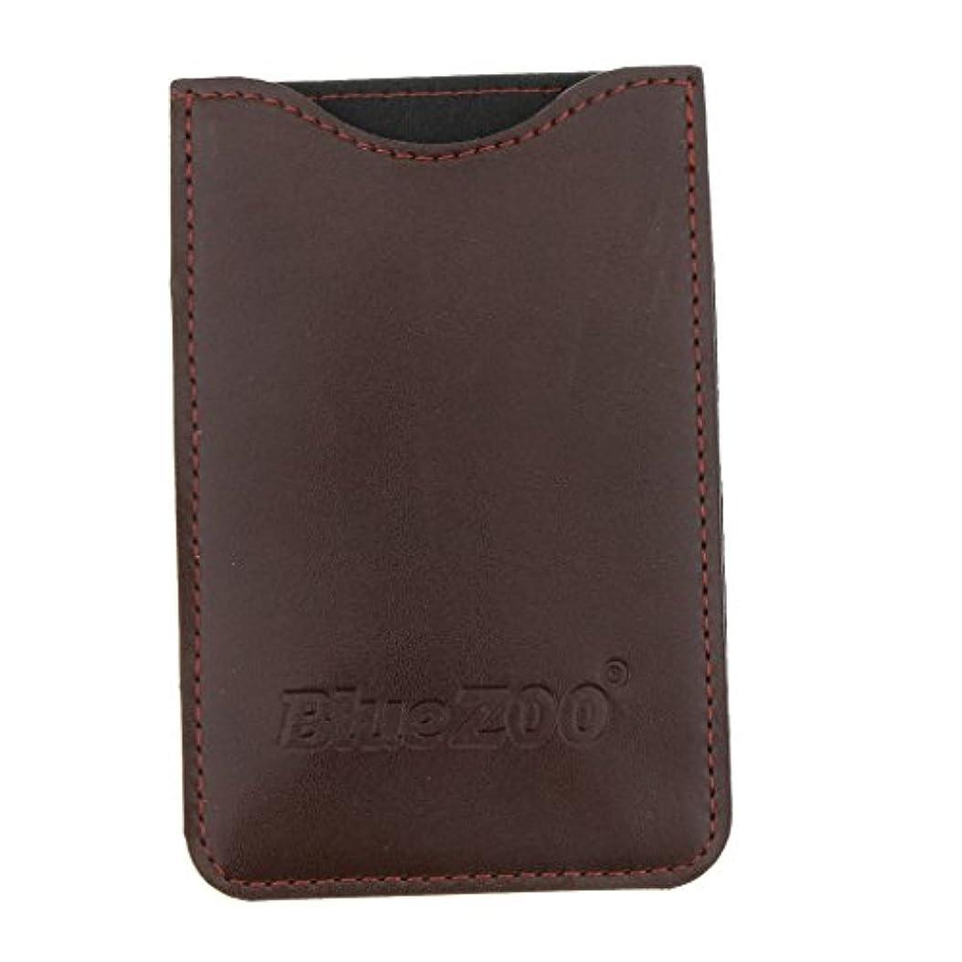 やけどしたがって太字コームバッグ 収納ケース 収納パック 保護カバー 櫛/名刺/IDカード/銀行カード オーガナイザー 全2色 - 褐色