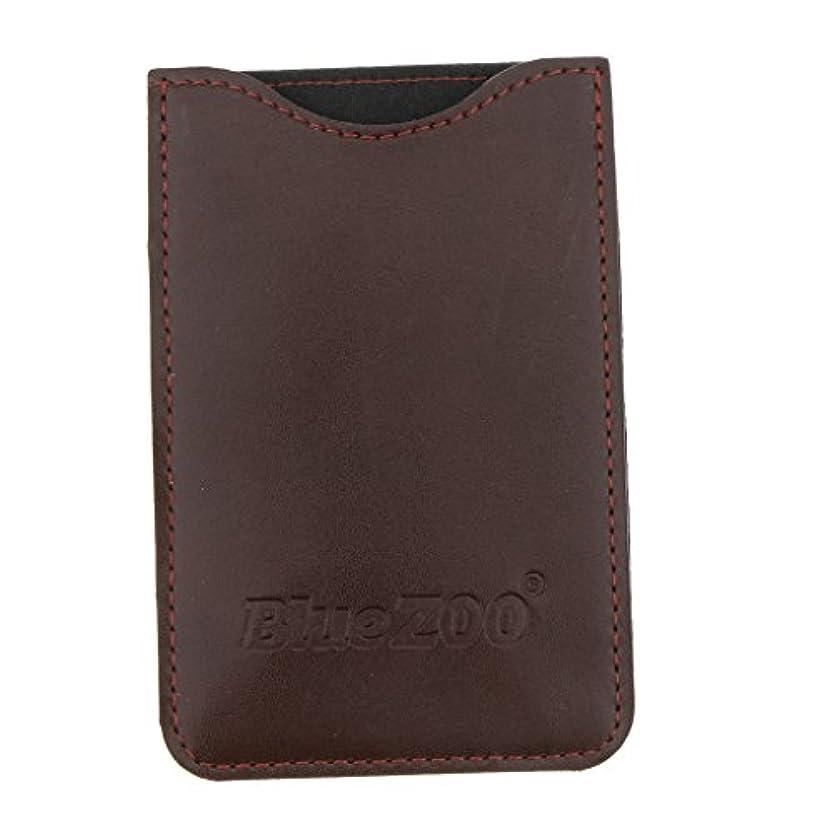アラート早めるホットコームバッグ 収納ケース 収納パック 保護カバー 櫛/名刺/IDカード/銀行カード オーガナイザー 全2色 - 褐色