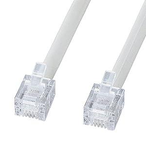 サンワサプライ エコロジー電話ケーブル(ノーマル) 白 0.5m TEL-EN-05N2