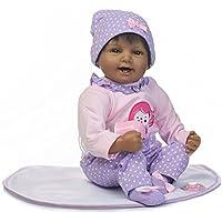 NPK collection Rebornベビー人形リアルな赤ちゃん人形ビニールシリコン赤ちゃん22インチ55 cm人形新生児赤ちゃん人形パープルブラックスーツ