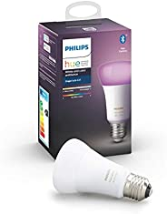 Philips Hue E27 White and Color Ambiance LED Smart Bulb, Bluetooth & Zigbee Compatible (Hue Hub Optional),