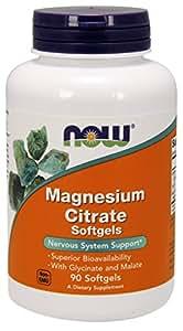 海外直送品 Now Foods Magnesium Citrate, 90 softgels