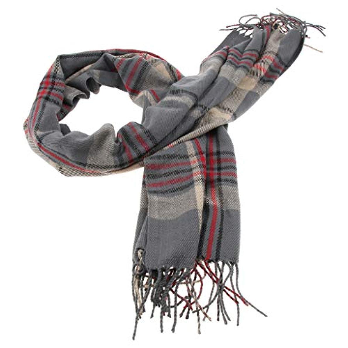 ウォーターフロントベギンキャメルB Baosity 古典的 スカーフ ショール チェック柄 ボタン フリンジ付き レディース 冷房対策 保暖 全4色