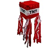 Red TNT Pinata for Minecraft Party