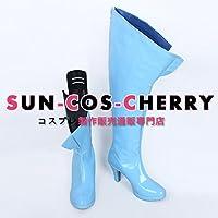 【サイズ選択可】コスプレ靴 ブーツ Z4-0165 戦姫絶唱シンフォギア 逆光のフリューゲル 風鳴翼 女性25CM