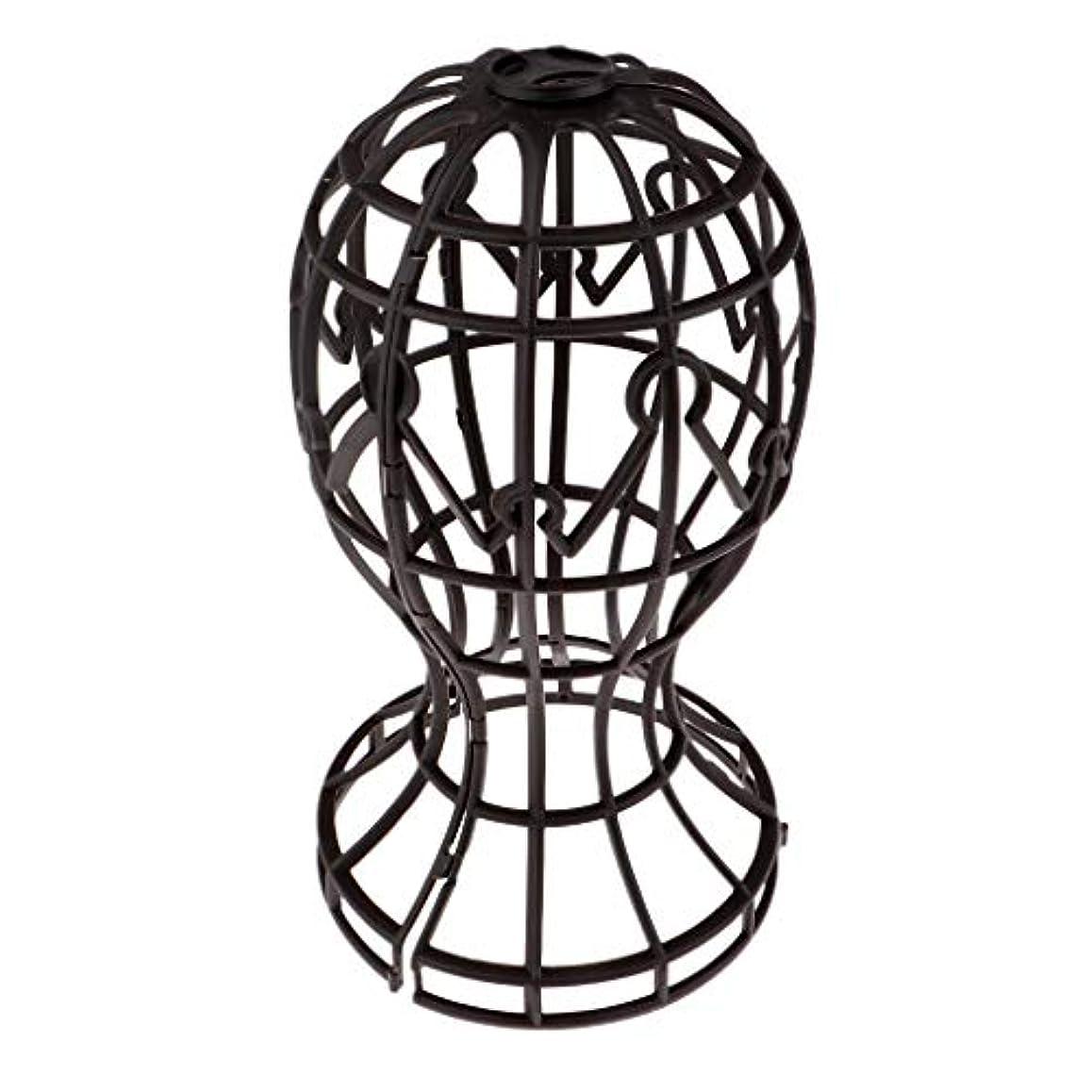 マーカー普遍的な不健康Sharplace かつらホルダー 髪型スタンド ウィッグスタンド 省スペース 帽子 ディスプレイ 高さ約31cm - ブラウン
