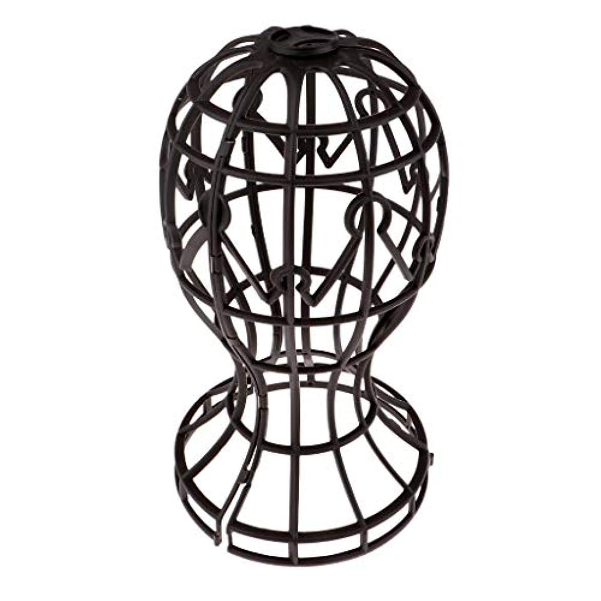 宣言ルートカタログSharplace かつらホルダー 髪型スタンド ウィッグスタンド 省スペース 帽子 ディスプレイ 高さ約31cm - ブラウン