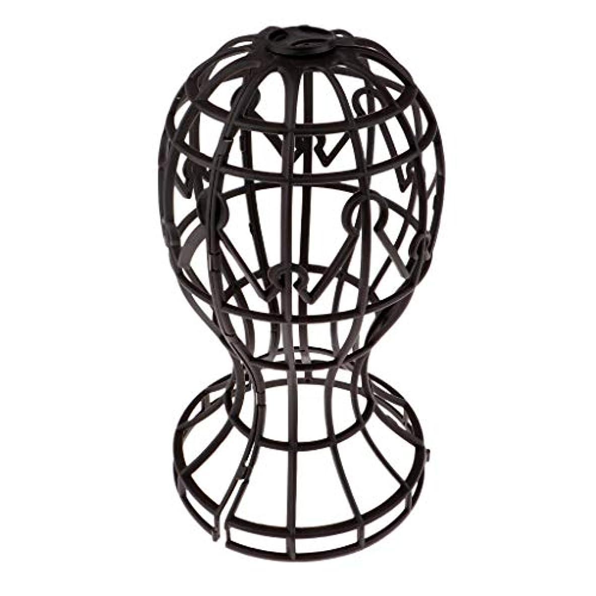 貝殻スイ廃棄するSharplace かつらホルダー 髪型スタンド ウィッグスタンド 省スペース 帽子 ディスプレイ 高さ約31cm - ブラウン