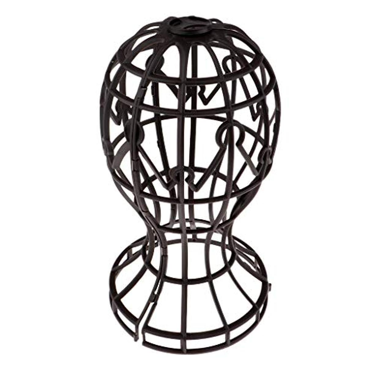 ホイスト戸惑う引数Sharplace かつらホルダー 髪型スタンド ウィッグスタンド 省スペース 帽子 ディスプレイ 高さ約31cm - ブラウン