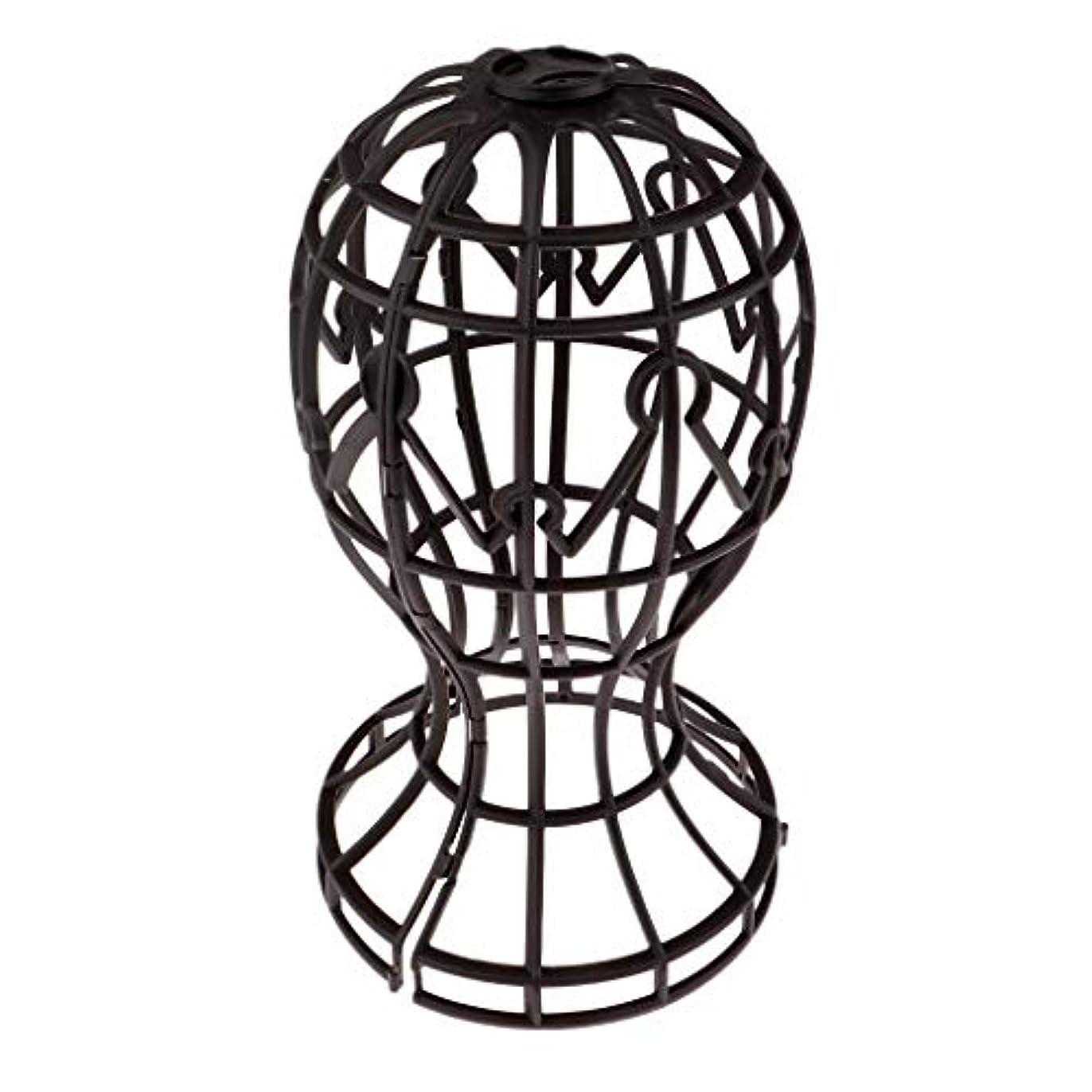 発揮する大宇宙乞食Sharplace かつらホルダー 髪型スタンド ウィッグスタンド 省スペース 帽子 ディスプレイ 高さ約31cm - ブラウン