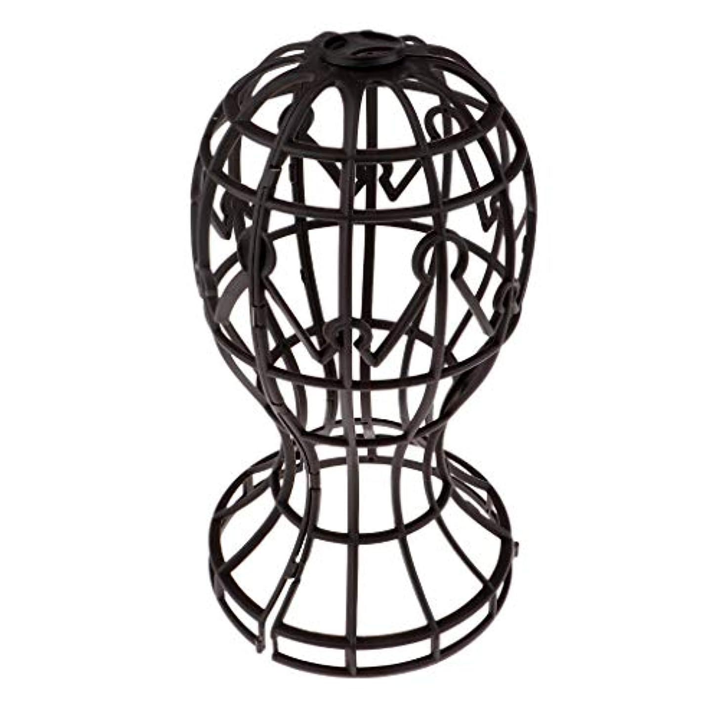発見防止値するSharplace かつらホルダー 髪型スタンド ウィッグスタンド 省スペース 帽子 ディスプレイ 高さ約31cm - ブラウン