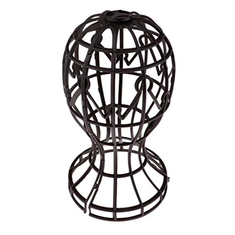省略するペデスタル有利Sharplace かつらホルダー 髪型スタンド ウィッグスタンド 省スペース 帽子 ディスプレイ 高さ約31cm - ブラウン