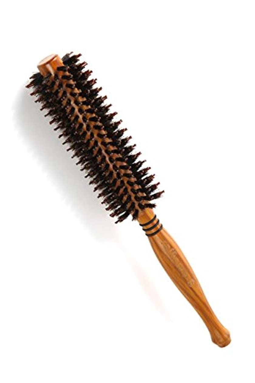 レジに同意するのれんraffinare(ラフィナーレ) ロールブラシ 豚毛 耐熱仕様 ブロー カール 巻き髪 ヘア ブラシ ロール (M)
