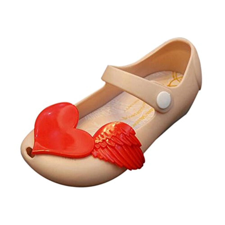 Deylaying 夏 ガールズ ベビー 可愛い アンチスリップ 柔らかい ゼリー 魚の口 カジュアル 靴 幼児 子供たち ビーチ サンダル 雨 ブーツ