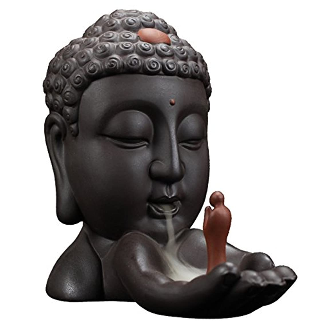 タクト治安判事硬さBackflow Incense Burnerクリエイティブホーム装飾セラミックBuddha Incense Holder Buddhist Censerギフト