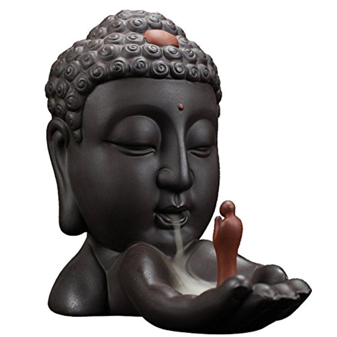 これらまた明日ね材料Backflow Incense Burnerクリエイティブホーム装飾セラミックBuddha Incense Holder Buddhist Censerギフト