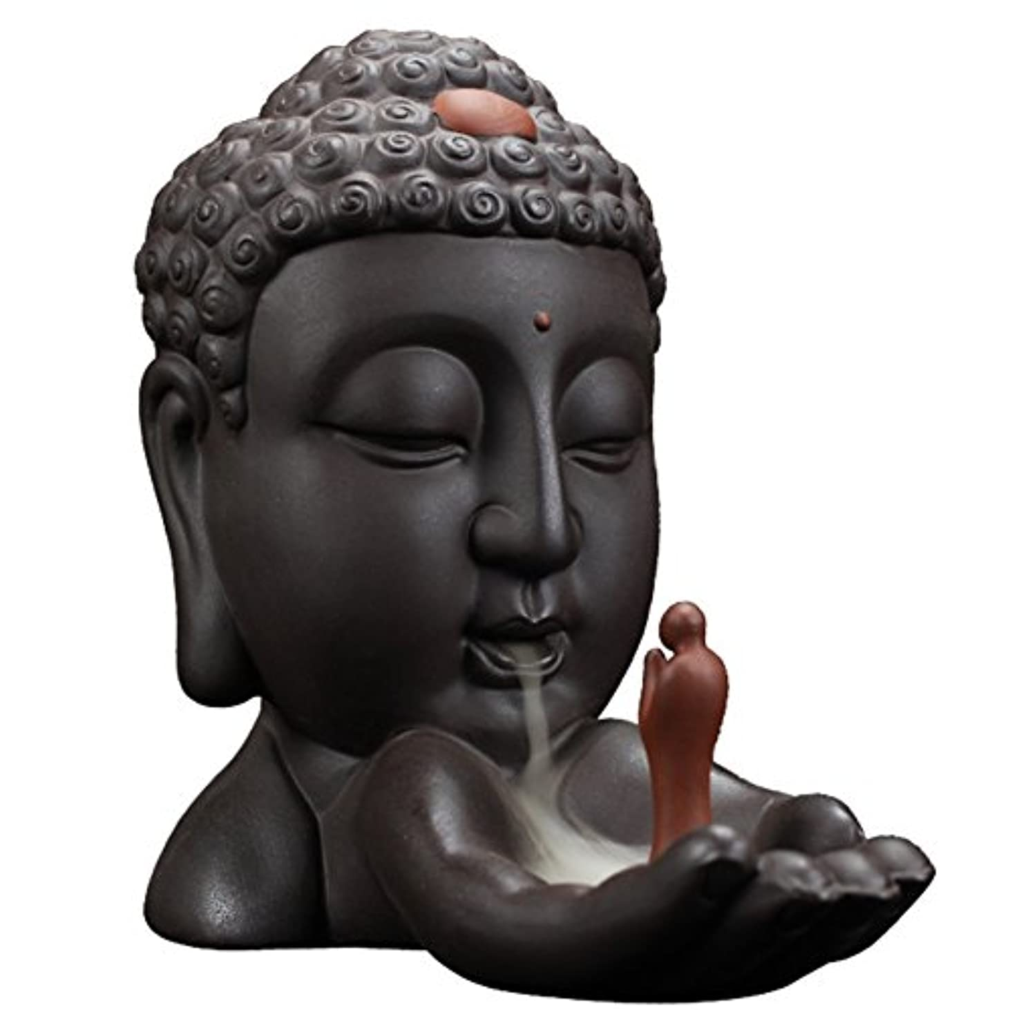 水没ジョイントポークBackflow Incense Burnerクリエイティブホーム装飾セラミックBuddha Incense Holder Buddhist Censerギフト