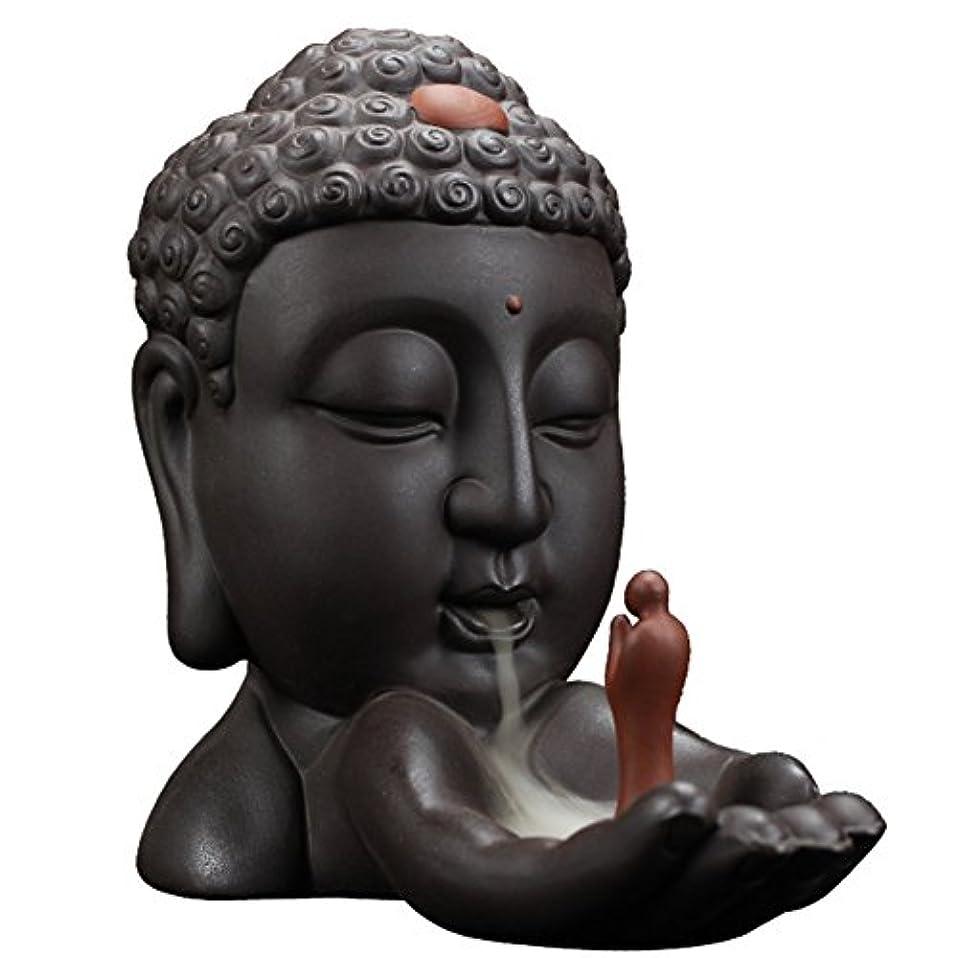 のためにヒュームシーフードBackflow Incense Burnerクリエイティブホーム装飾セラミックBuddha Incense Holder Buddhist Censerギフト