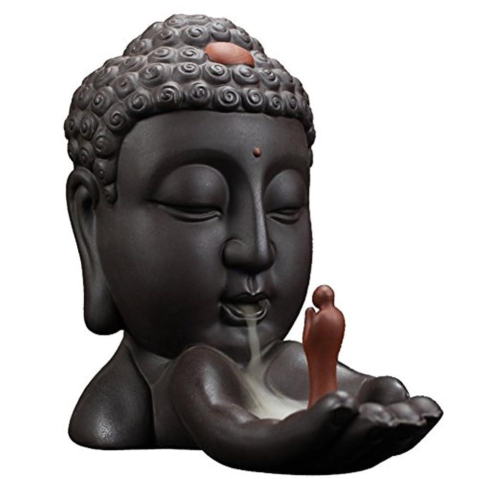 不運動揺させる国民投票Backflow Incense Burnerクリエイティブホーム装飾セラミックBuddha Incense Holder Buddhist Censerギフト