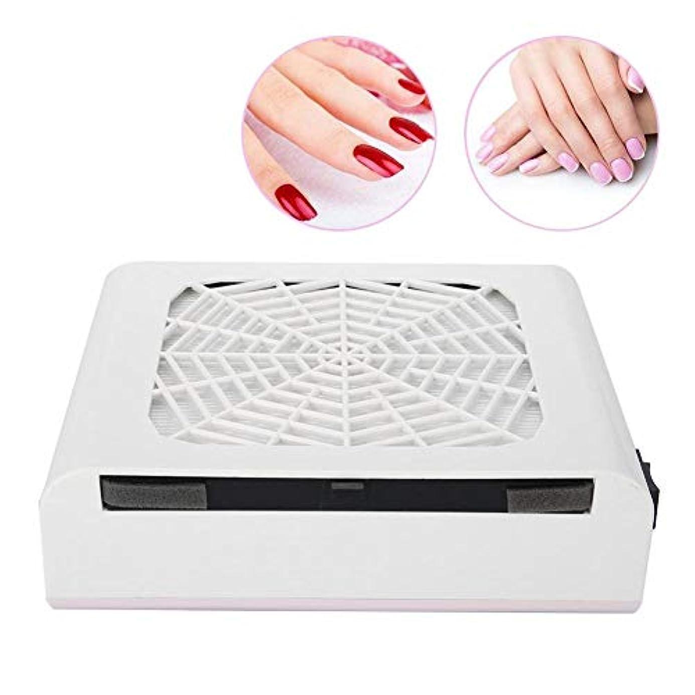 ネイルダスト 集塵機 ダストコレクター ネイルケア 強い吸収力 60W ネイルダスト吸引 お手入れ簡単 ネイルファン (ホワイト48W)