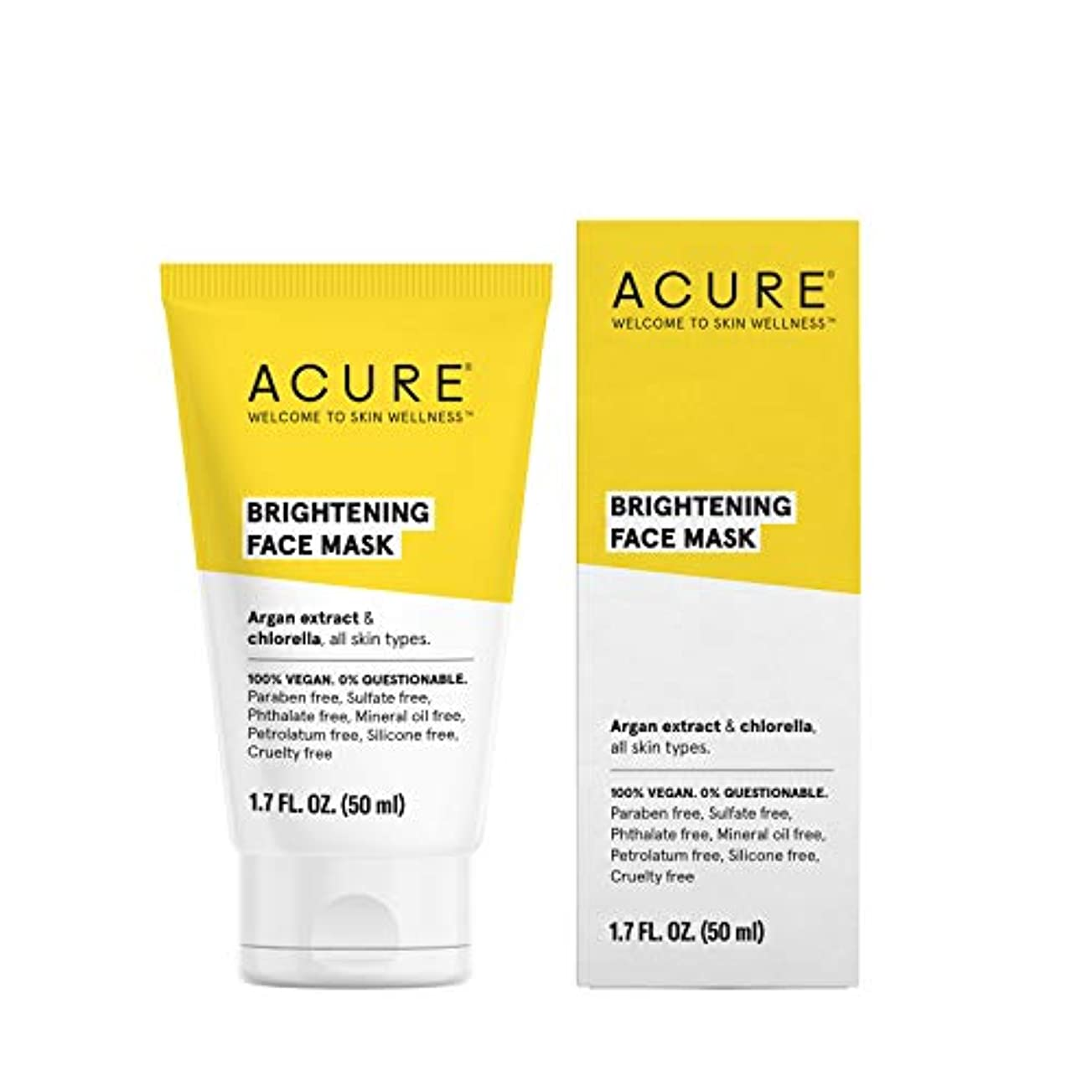 フィドルフレア資金ACURE Brightening Face Mask, 1.7 Fl. Oz.