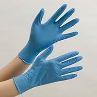ミドリ安全 ニトリルディスポ手袋 ベルテ737 加硫促進剤フリー 青 100枚入 薄手(VERTE Chemax7thSense)